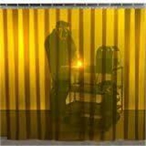 Plastik PVC curtain kuning di glodok
