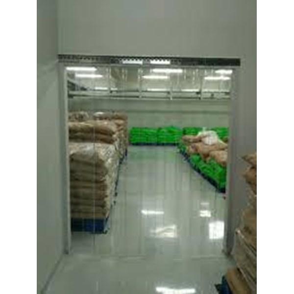 tirai PVC Curtain untuk Produksi Kuning