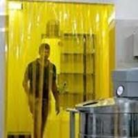 PVC tirai Curtain anti lalat kuning bekasi 1