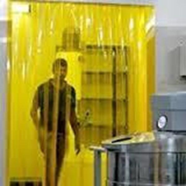 PVC tirai Curtain anti lalat kuning bekasi