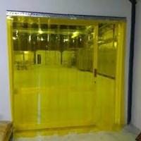 PVC plastik curtain sunter Kuning 1
