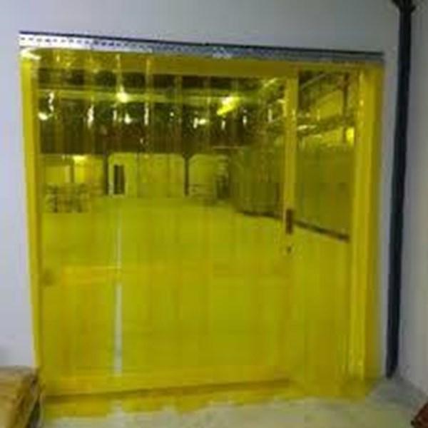 PVC plastik curtain sunter Kuning
