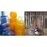 tirai plastik curtain Blue Clear di Depok 1