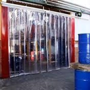 Cold Room Cold Storage tirai blue clear solo