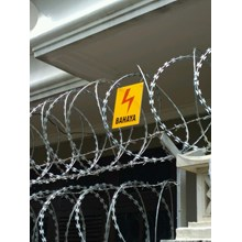 installation of barbed wire fence