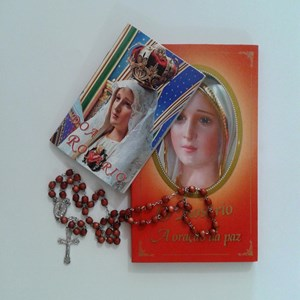 Rosario Kayu Coklat + Buklet Doa Rosario (HR-912)