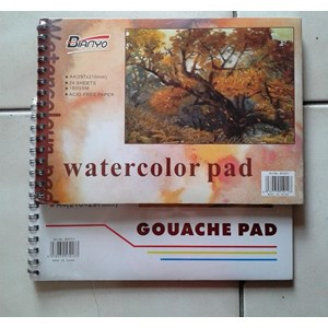 Watercolour Pad A4  #  Gouache Pad A4 Bianyo
