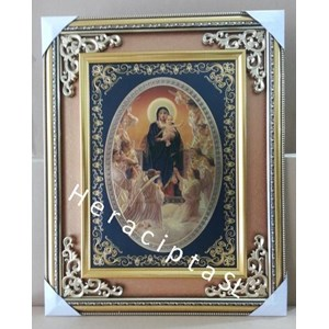 Frame Gbr Bunda Maria Kanak2 Yesus Malaikat Baju Hitam 51x46cm (WDFB-02)
