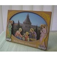 WP2814-3D9  Pajangan meja 2D - Holy Family Of Nazareth