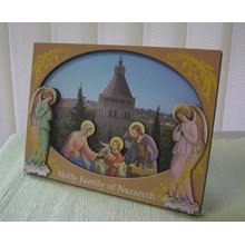 Inspirational 2D Wood Decor - Holy Family Of Nazar