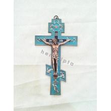 Salib dinding Timur biru 23cm  (IC-1202)