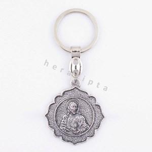 GK-13A  Gantungan Kunci 'Hati Kudus Yesus' bundar