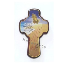 Salib Hias Gbr Tangan Doa 'Rejoice the Lord' 22cm besar (HS-921b)