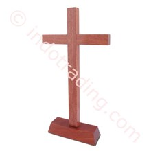 Sitting Cross Solid Wood Medium (Without Corpus)