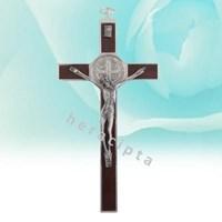 Salib Dinding Besi  Mcr 1003Aw  Salib Dinding Besi Benediktus Coklat