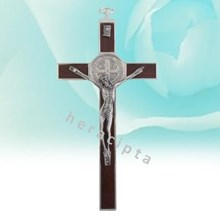 Mcr-1003Aw Iron Wall Cross Benedict Brown