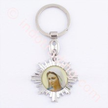 GK-09  Mother Mary Flower Keychains