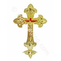 Sitting Cross Style Elegant Gold Metal Corpus