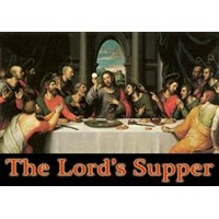 WP2813-2D0  Pajangan meja 'Perjamuan Terakhir' Last Supper