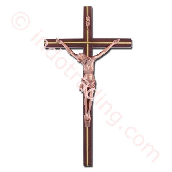 Salib Dinding Kayu Kosong # Mcr-1644 Lis Tembaga Corpus Wrn Tembaga 30Cm