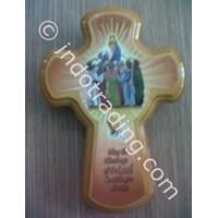 Jual Salib Hias Gbr Yesus Memberkati Orang2 14cm kecil (HS-920a) 2