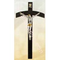 Salib Dinding Kayu Lengkung Corpus Yesus 28cm  (WCR-1016)  1