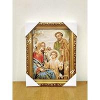 WCF-03  Frame gambar lukisan Keluarga Kudus