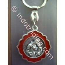 GK-13B  Gantungan kunci St Antonius Padua - merah