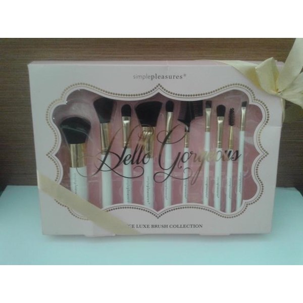 (Brush1)  Kuas Make Up Set Simplepleasures Putih