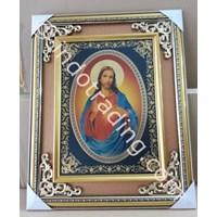 Frame Gbr Yesus Hati Kudus 51X46cm  (WDFB-01)
