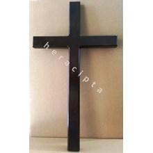 Salib Dinding Kayu Besar Polos 44cm (WCR-1317)