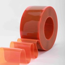 Orange Plastic PVC Strip Curtain