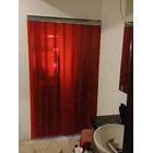 Tirai PVC Strip Merah ( 085782614337 ) 1