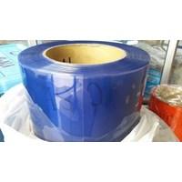 Tirai Plastik Biru Transparan (085782614337)
