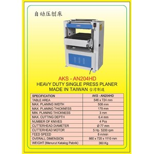 MESIN PRESS Auto Single Press Planer AN204HD