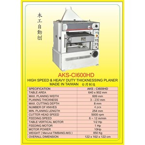 MESIN PRESS Auto Single Press Planer CI600HD