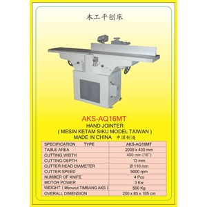 ALAT ALAT MESIN Hand Jointer AQ16MT
