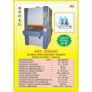 ALAT ALAT MESIN Single & Double Head Wide Belt Sander DSN242
