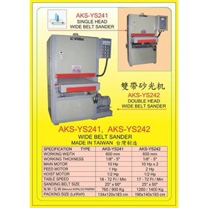 ALAT ALAT MESIN Single & Double Head Wide Belt Sander YS242