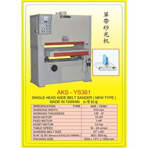 ALAT ALAT MESIN Single & Double Head Wide Belt Sander YS361