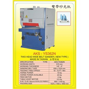 ALAT ALAT MESIN Single & Double Head Wide Belt Sander YS362N