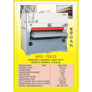 ALAT ALAT MESIN Single & Double Head Wide Belt Sander YS512