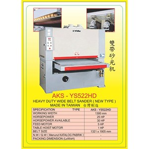 ALAT ALAT MESIN Single & Double Head Wide Belt Sander YS522
