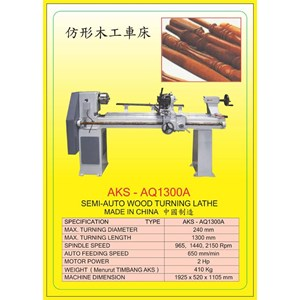 ALAT ALAT MESIN Wood Lathe AQ1300A