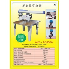 ALAT ALAT MESIN Radial Arm Saw Double End Miter Saw AQ930A