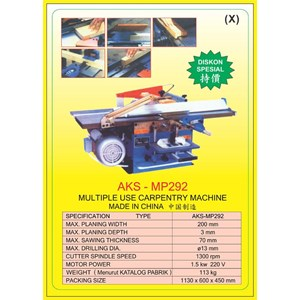 ALAT ALAT MESIN Multiple Use Carpentry MP292