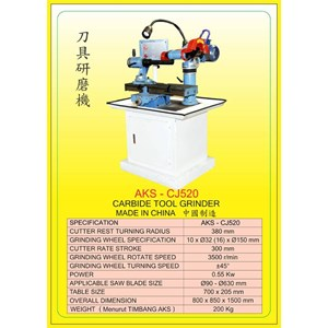 ALAT ALAT MESIN Carbide Tool Grinder CJ520