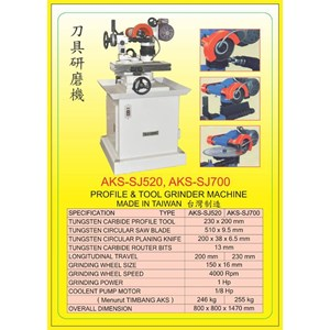 ALAT ALAT MESIN Carbide Tool Grinder SJ520