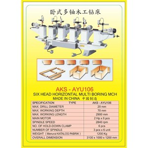 ALAT ALAT MESIN Vertical & Horizontal Multi Boring Machine AYU106