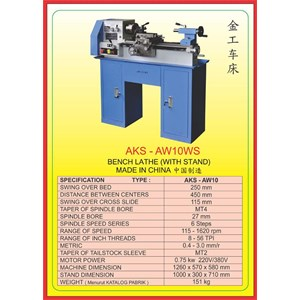 MESIN BUBUT Mini Bench Lathe AW10WS